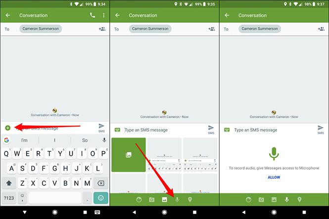 Cách gửi bản ghi âm qua tin nhắn MMS trên Android - ảnh 1