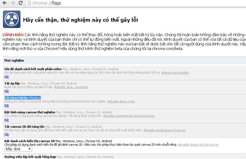 Cách sửa lỗi chữ cách hàng trong Chrome 39 - ảnh 1